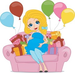 Cartoon baby shower