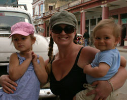 Corinne and Kids in Cuba (large file) 250