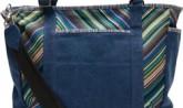 10005271-Navy Stripe-Canvas-Baby Bag Tote-H 250