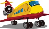 cartoon airplane 250