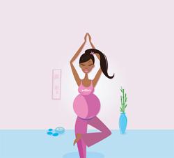 Black girl yoga