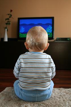 baby watching tv