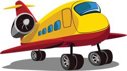 cartoon airplane 250